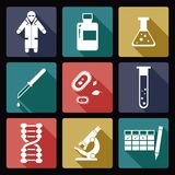 Biology icons Stock Photography