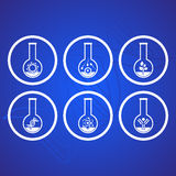 Biology icons Stock Images