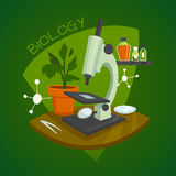 Biology Laboratory Workspace Design Concept Royalty Free Stock Photos