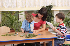 Biology lesson royalty free stock image