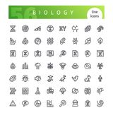 Biology Line Icons Set. Set of 56 biology line icons suitable for web, infographics and apps. Isolated on white background. Clipping paths included Stock Images