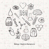 Biology or Medicine Science Background Stock Photo