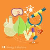 Biology and medicine Stock Image