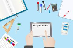 Biology Practice Test Concept Vector Royalty Free Stock Photography