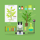 Biology research equipment Royalty Free Stock Photography