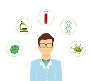 Biology science design. Illustration eps10 graphic Stock Photography