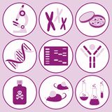 Biology science icons Stock Photo