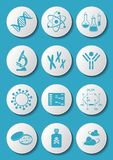 Biology science icons Stock Images