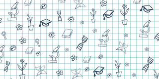 Biology subject. Back to School background. Education banner. Biology subject. Back to School background. Education banner Royalty Free Stock Photos