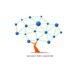 Biology tree logo. Science sign Stock Images