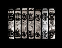 Biology word. On black background stock photography