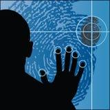 Biométrica stock de ilustración