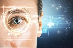 Biométrie et concept futuriste images stock