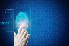 Biométrie, sécurité et accès photo libre de droits