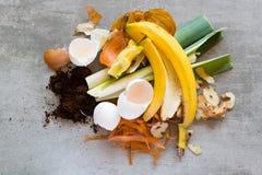 Biomüll, zum des Komposts zu machen lizenzfreie stockbilder