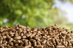 Biomass. Boilers biofuel pellet wood fuel bio royalty free stock photography