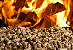 Biomass. Boilers biofuel pellet wood fuel bio royalty free stock photos