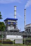 Biomass-burning power plant. Building of biomass-burning power plant stock photos