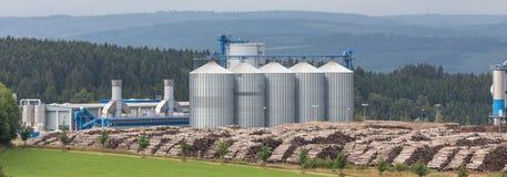 Biomass cogeneration plant Stock Images