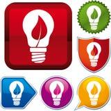 Biomass energii ikona Fotografia Royalty Free