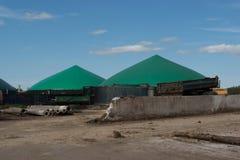 Biomass energy plant Royalty Free Stock Photos