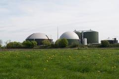 Biomass energy plant Stock Image