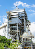 Biomass energy plant. Modern energy plant in Thailand, using wood chips as a renewable form of energy production stock photo