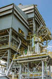 Biomass energy plant. Modern energy plant in Thailand, using wood chips as a renewable form of energy production royalty free stock photos