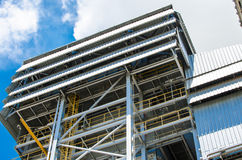 Biomass energy plant. Modern energy plant in Thailand, using wood chips as a renewable form of energy production royalty free stock image