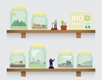Biomass in jar. On the shelve Royalty Free Stock Images