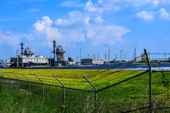 Biomass Power Plant. Thailand is an agricultural country, after harvesting there will be a large amount of agricultural waste left which could be use as biomass royalty free stock photo