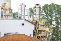 Biomass power plant is a tree background.  royalty free stock images
