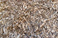 Biomassa dal residuo della lavorazione del legno ed agricolo Fotografia Stock Libera da Diritti