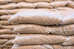 Biomassa di legno - combustibile rinnovabile Immagine Stock