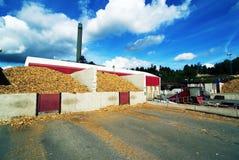 Biomassaelektrische centrale Royalty-vrije Stock Fotografie