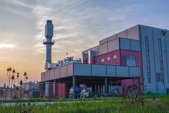 Biomassaelektrische centrale Stock Foto