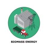 Biomassaenergi, förnybara energikällorkällor - del 5 Arkivbild