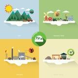 Biomassaenergie Stock Afbeeldingen