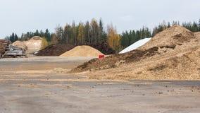 Biomassaturf en houtspaanders Royalty-vrije Stock Foto