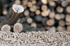 Biomasse de boulettes Photos libres de droits
