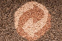 Biomasse de boulettes Images stock