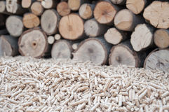 Biomasse de granules Photos libres de droits