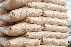 Biomasse de granules Photographie stock