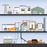 Biomasse-Kraftwerk Stockfoto