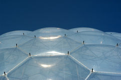Biome Roof. Roof of a biome at the eden project in England Stock Photos