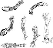 Biomechanical Cyber-Hands Royalty Free Stock Images