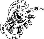 Biomechanical Designs - vector illustration Stock Photo