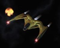 Biomechanical powerful spaceship Royalty Free Stock Photography