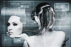 Biomechanical Woman Stock Photography