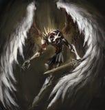 Biomechanische engel Stock Afbeeldingen
